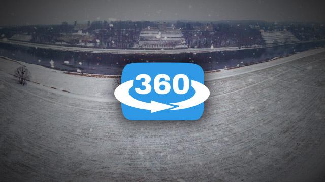 Wintertraum Dresden 360° Panorama im Januar 2016