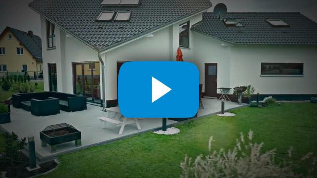 Immobilienpräsentation Luftaufnahmen einer Immobilie, produziert für Immoteufel