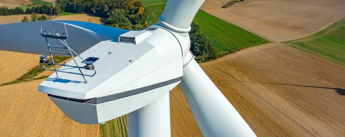 Windkraftwerk Inspektion